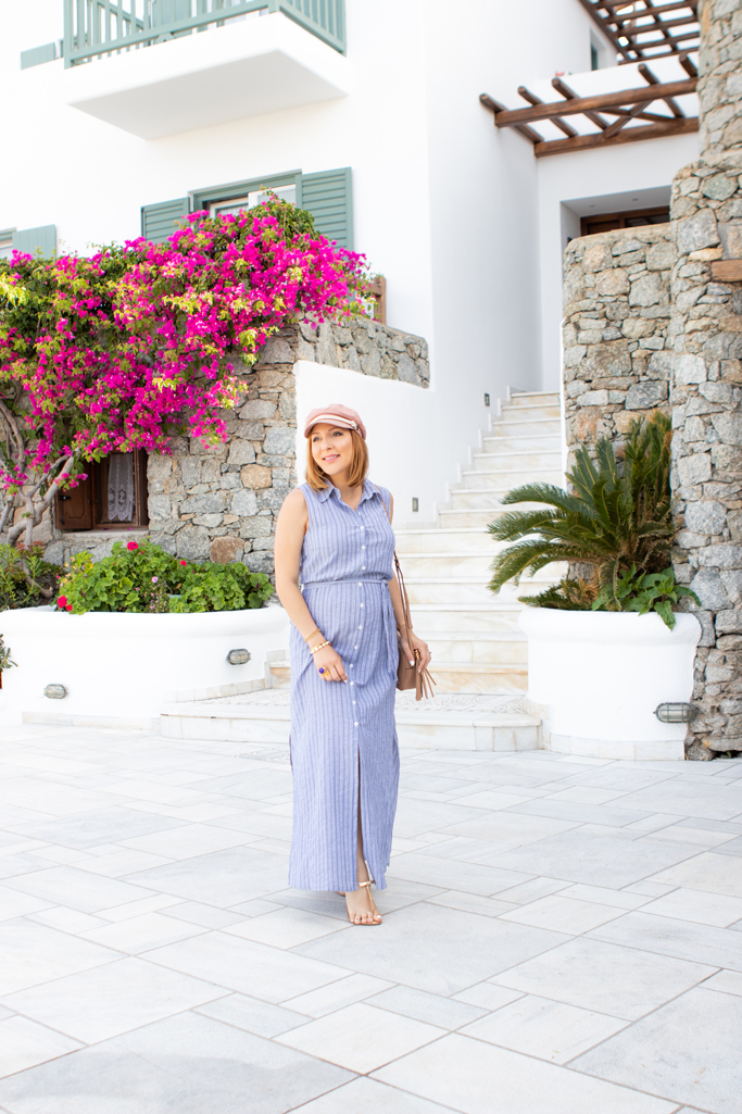 Blame it on Mei, @blameitonmei, Miami Fashion Travel Blogger, Shirt Dress, Mykonos, Travel Maternity Look