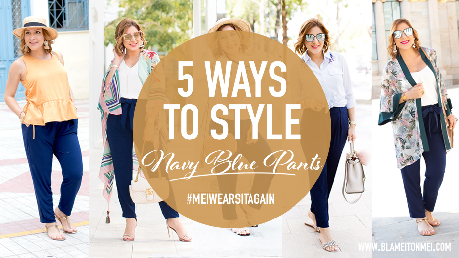 Blame it on Mei, @blameitonmei, Miami Fashion Blogger, Restyle Navy Pants, #MeiStyleRemix