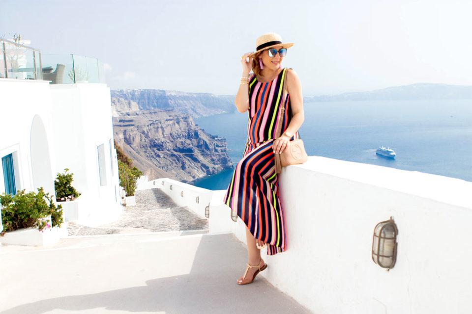 6 21 Blame it on Mei blameitonmei Miami Fashion Travel Blogger Maternity Look Stripe Dress Santorini Greece 7 1024 960x640jpg Blame it on Mei