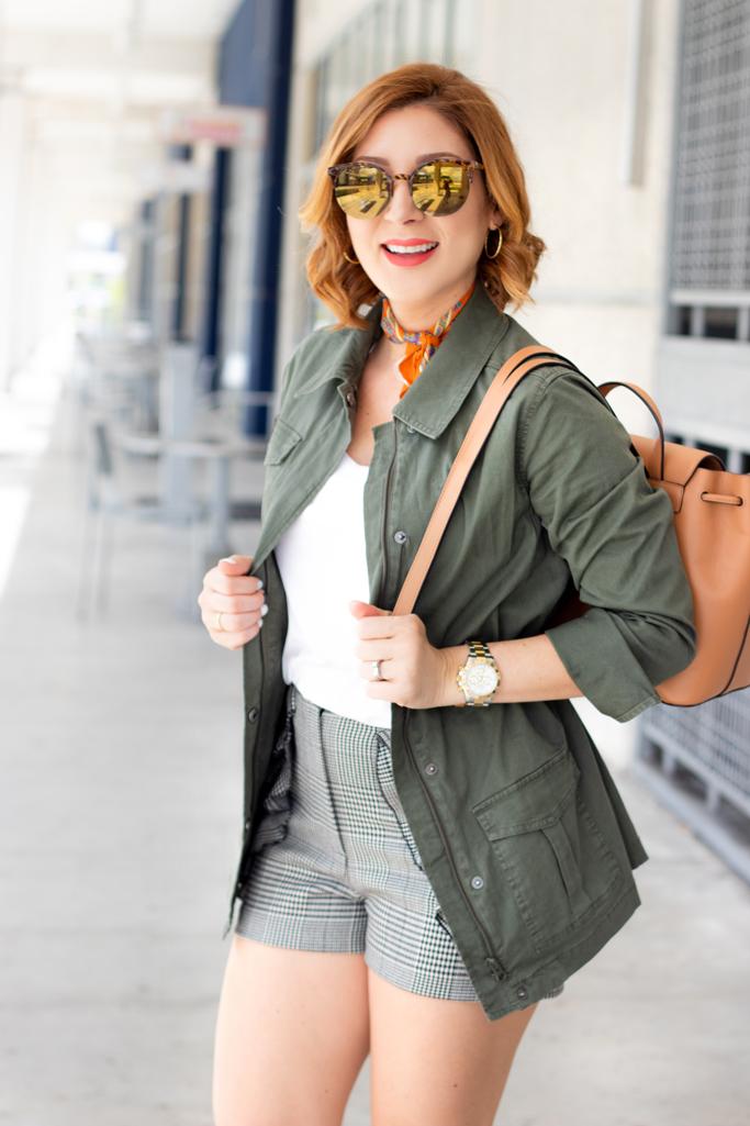 Blame it on Mei, @blameitonmei, Miami Fashion Style Blogger, Utility Jacket, Softest White Tshirt