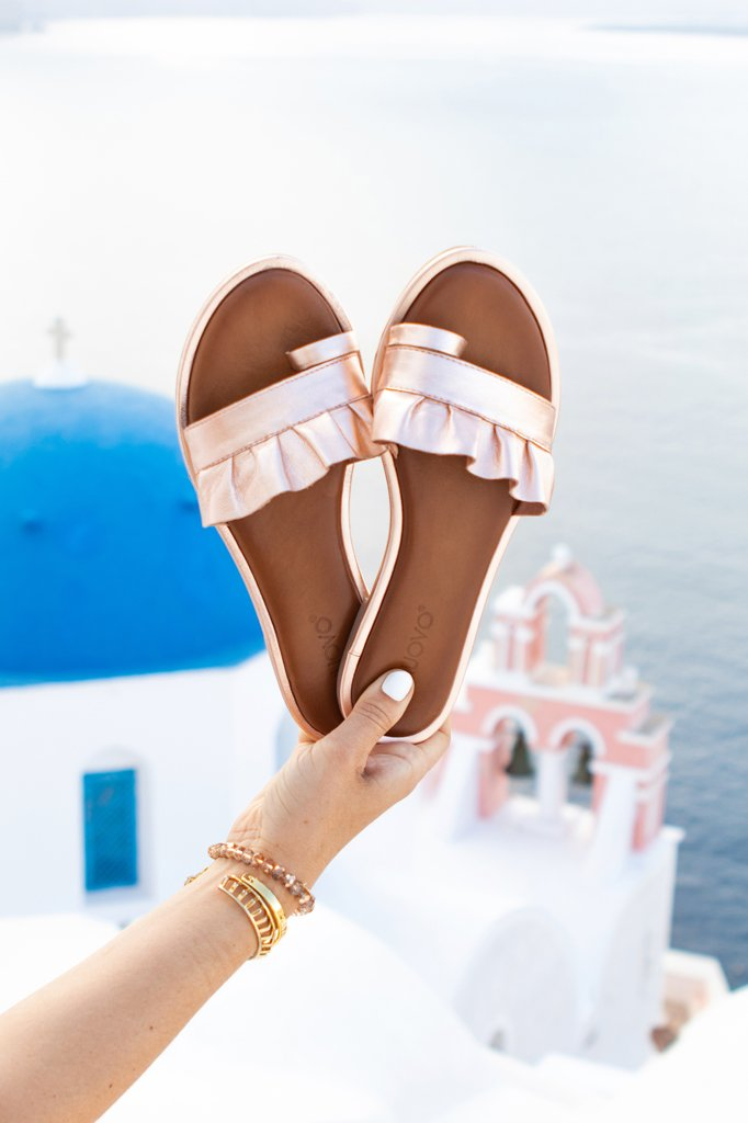 Blame it on Mei, @blameitonmei Miami Fashion Travel Blogger ,Halter Maxi Dress, Santorini Travel Guide, Maternity Travel Look