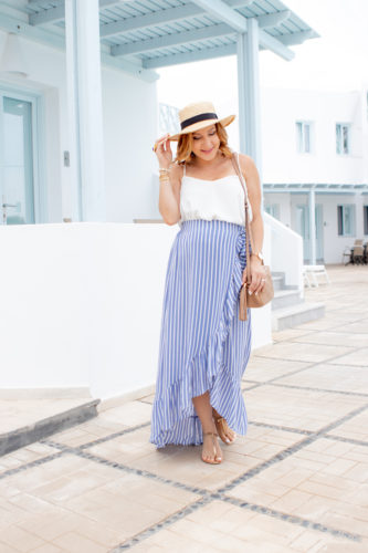 Blame it on Mei, @blameitonmei, Miami Fashion Travel Blogger, Waterfall Ruffle Skirt, Maternity Travel Look