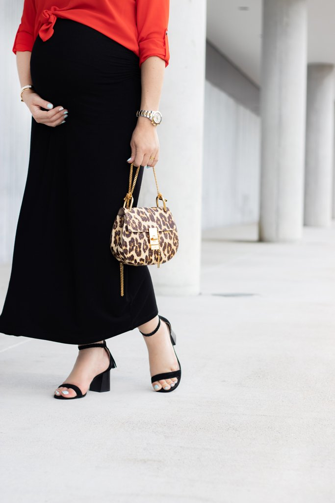 Blame it on Mei, @blameitonmei, Miami Fashion Blogger, Maternity Look Outfit, Delicate Jewelry, Maxi Skirt, Tunic, AUrate
