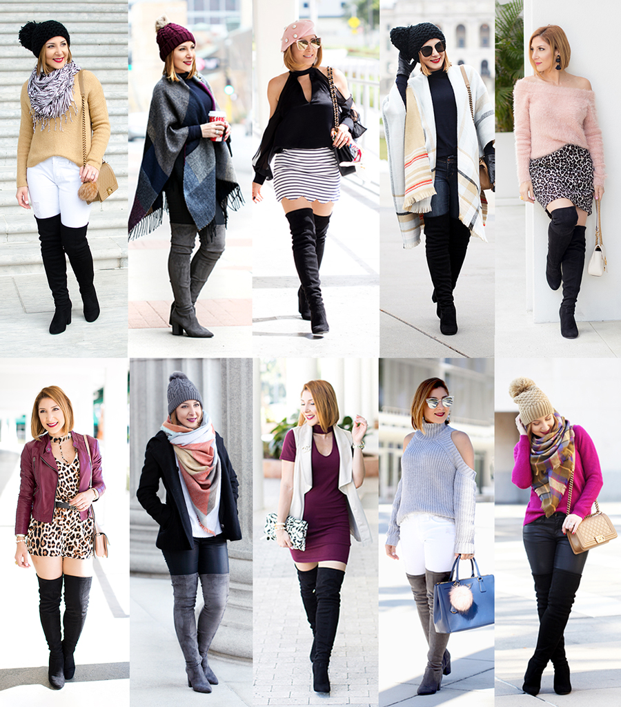 a23a39b7ceb MeiWearsItAgain  10+ Ways To Wear Over The Knee Boots - Blame it on ...