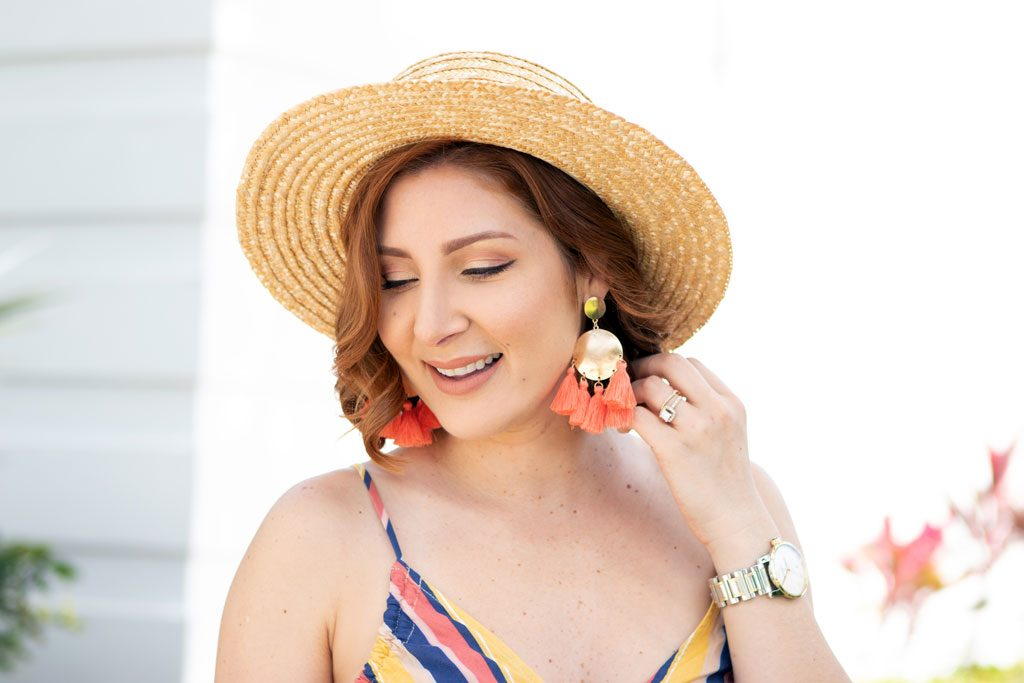Blame it on Mei, @blameitonmei, Miami Fashion Blogger, Spring Look Under $100, Stripe Jumpsuit