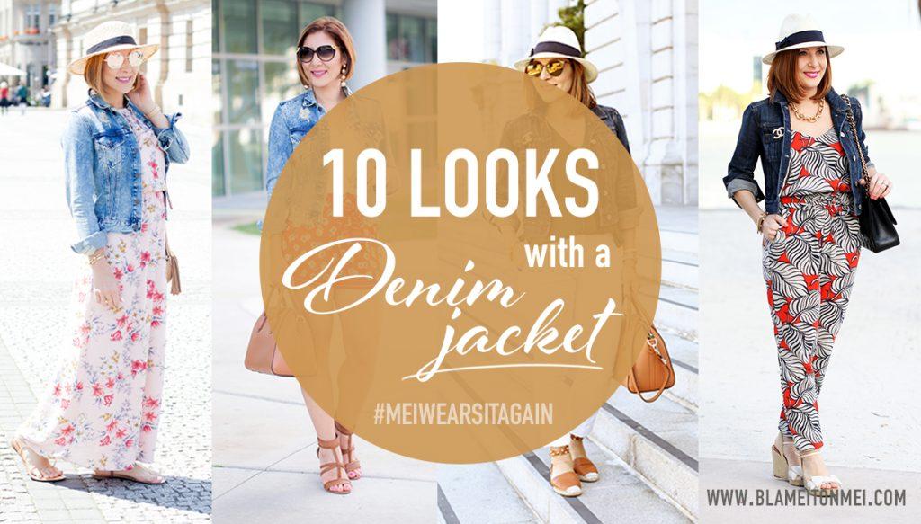 Blame it on Mei, @blameitonmei, 10 ways to wear a denim jacket