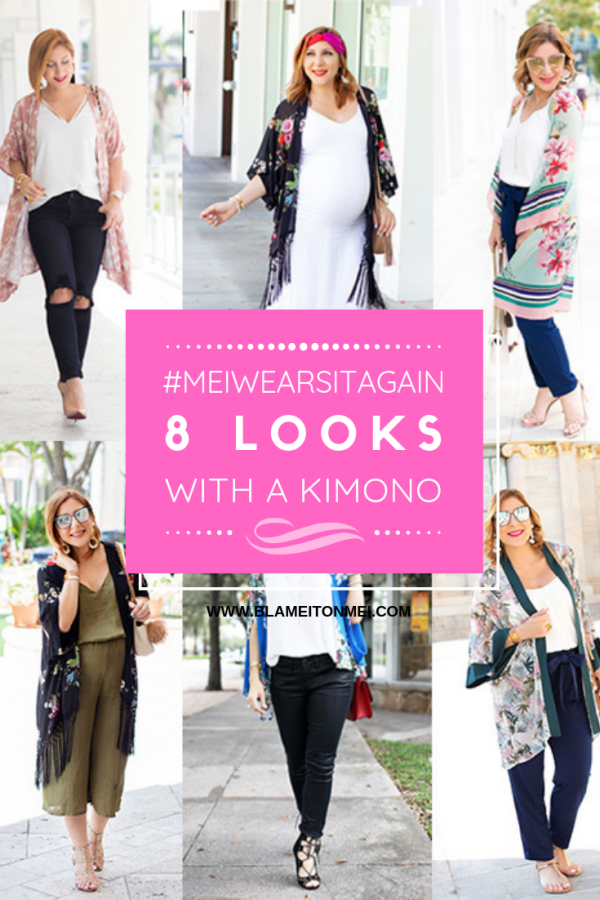 Blame it on Mei, @blameitonmei, Miami Fashion Blogger, Re-style, Re-wear, How to wear Kimono, #MeiWearsItAgain