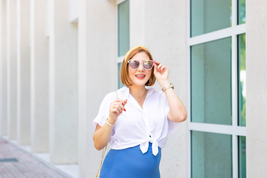 Blame it on Mei, @blameitonmei, Miami Fashion Mom Blogger, 4 months pregnant, summer look outfit, 4 months pregnant look, leopard handbag, maxi skirt