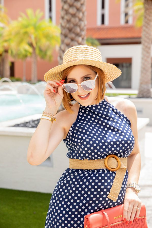 Blame it on Mei, @blameitonmei, Miami Fashion Mommy Blogge,r great amazon dress under $25, polka dot maternity fashion