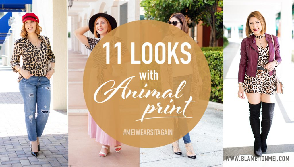 Blame it on Mei, @blameitonmei, Miami Fashion Blogger, how to wear animal print leopard