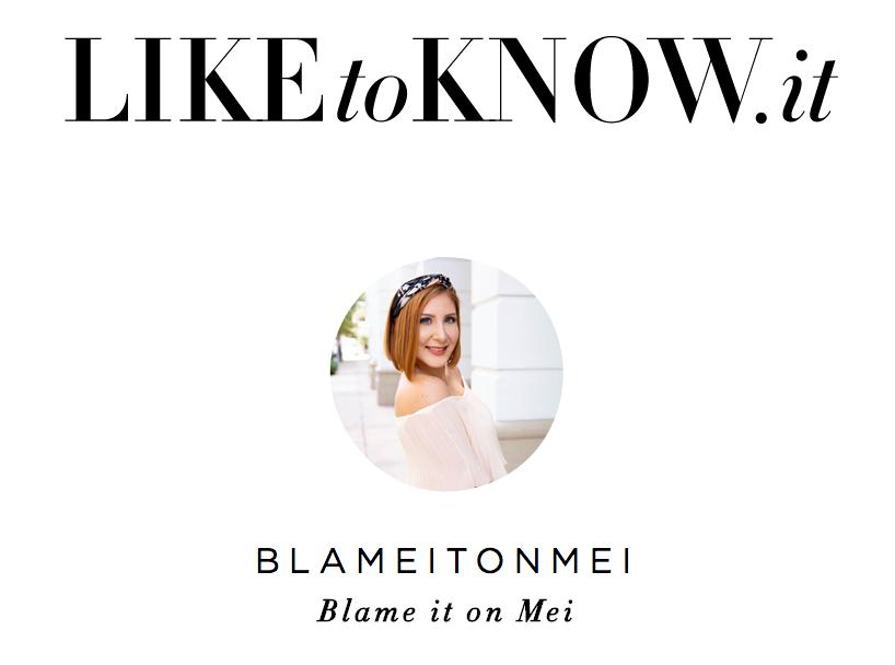 @blameitomei, Blame it on Mei, LikeToKnow.it profile picture