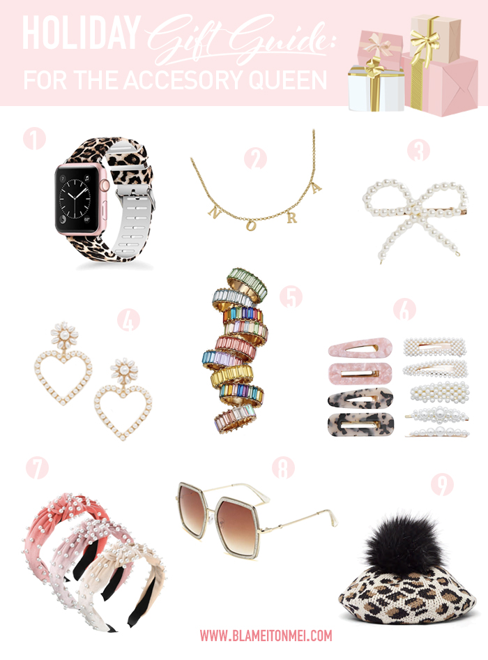 Blame it on Mei, @blameitonmei, Miami Fashion Mom Blogger, Christmas, holiday 2019, gift guide for accessory queen