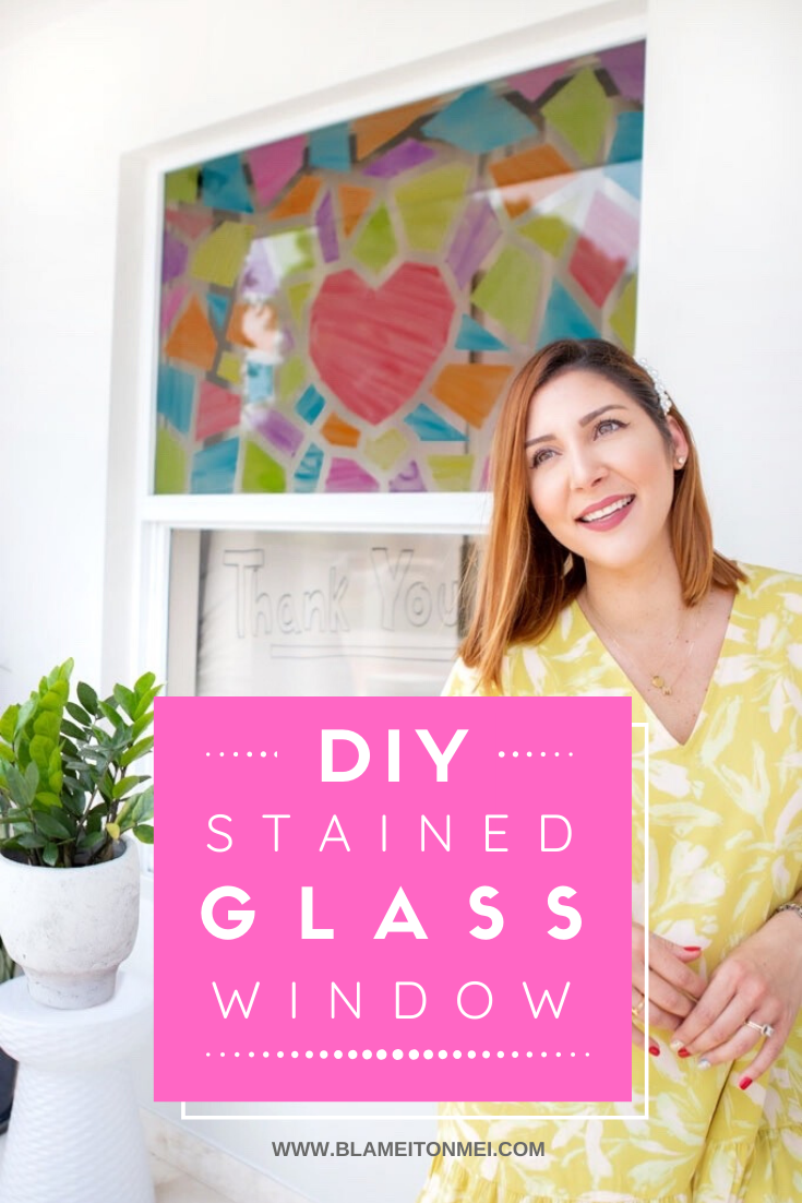 Blame it on Mei, @blameitonmei, Miami Fashion Lifestyle Mom Blogger, DIY Stained Glass Window, COVID 19, Coronavirus