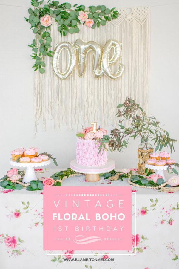 Blame it on Mei, @blameitonmei, Miami Lifestyle Mom Blogger, Vintage Boho Floral 1st Birthday, Rose Garden Theme